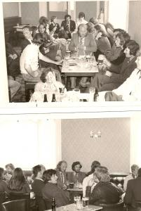 Late lunch in the pub (probably The Junction c 1970)